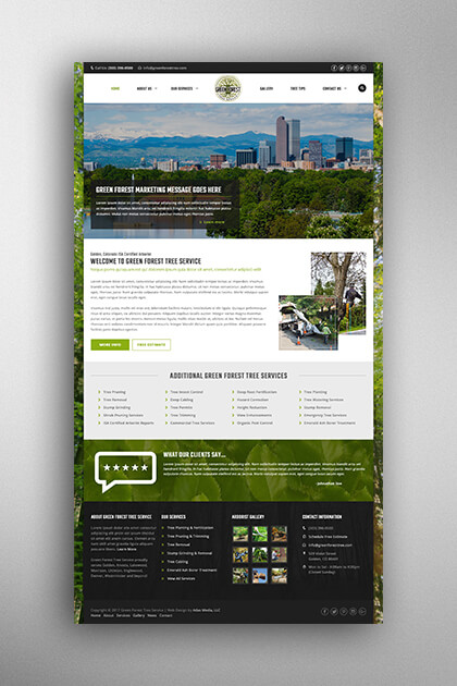 Atlas Media Portfolio - Green Forest Tree Service